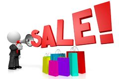 концепция продажи мегафона 3D Стоковое Фото