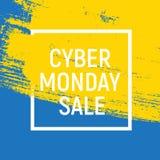 Концепция продажи предпосылки понедельника кибер также вектор иллюстрации притяжки corel Стоковая Фотография RF