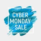 Концепция продажи предпосылки понедельника кибер также вектор иллюстрации притяжки corel Стоковые Фотографии RF
