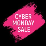Концепция продажи предпосылки понедельника кибер также вектор иллюстрации притяжки corel Стоковая Фотография