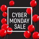 Концепция продажи предпосылки понедельника кибер также вектор иллюстрации притяжки corel Стоковое фото RF