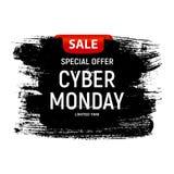Концепция продажи предпосылки понедельника кибер также вектор иллюстрации притяжки corel Стоковые Изображения RF