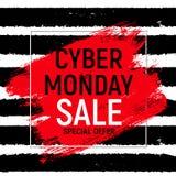 Концепция продажи предпосылки понедельника кибер также вектор иллюстрации притяжки corel Стоковые Фото