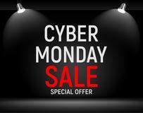 Концепция продажи предпосылки понедельника кибер также вектор иллюстрации притяжки corel Стоковые Изображения