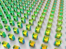 концепция производственной линии принтеров 3D бесплатная иллюстрация