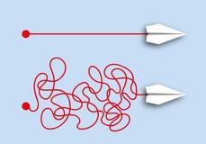 Концепция простоты перед лицом сложности рассуждения иллюстрация штока