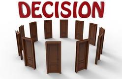 Концепция процесса принятия решений Стоковое Изображение