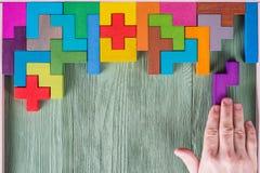 Концепция процесса принятия решения, логического мышления Логически задачи стоковое изображение