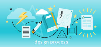Концепция процесса проектирования Стоковые Изображения RF
