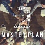 Концепция процесса планирования деятельности дизайна сводного плана Стоковое Изображение RF
