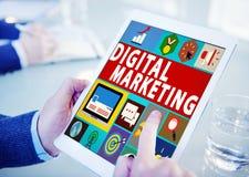 Концепция продвижения кампании коммерции маркетинга цифров стоковые фотографии rf
