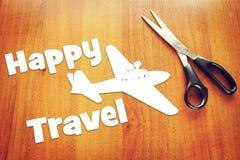 Концепция путешествовать самолетом Стоковые Фото