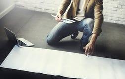 Концепция плана идей дизайнера думая творческая Стоковое Изображение RF