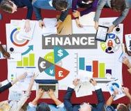 Концепция плана стратегии роста займа валюты диаграммы финансовая Стоковое фото RF