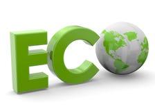 Концепция планеты Eco - 3D Стоковое Фото