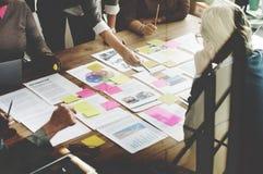 Концепция планирования проекта встречи команды дела стоковая фотография rf