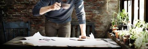 Концепция планирования проектнаяа работа инженера архитектора Стоковое Фото