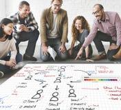 Концепция планирования управления организационной схемы стоковая фотография rf