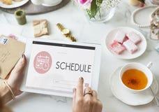 Концепция плановика повестки дня заседания назначения план-графика стоковое фото