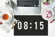 Концепция план-графика назначения времени пунктуальная графическая стоковые изображения