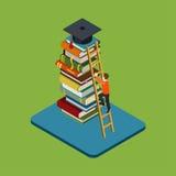 Концепция плоского равновеликого образования 3d infographic Стоковое Фото