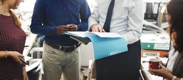 Концепция работника офиса команды дела работая Стоковое Фото
