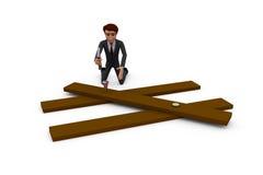 концепция работника человека 3d Стоковая Фотография