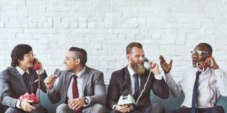 Концепция работников дела корпоративная сидя стоковые изображения