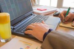Концепция работы ` s бухгалтера Бюджет планирования, проверка и концепция дела Businesspersons анализируя отчет Молодое peopl дел Стоковая Фотография RF