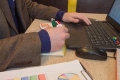 Концепция работы ` s бухгалтера Бюджет планирования, проверка и концепция дела Businesspersons анализируя отчет Молодое peopl дел Стоковая Фотография