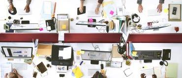 Концепция рабочего места единения команды офиса работая Стоковые Изображения