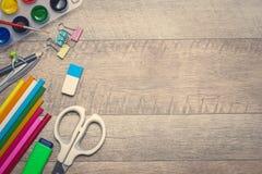 концепция рабочей станции фотографа Взгляд сверху разнообразной персоны Стоковая Фотография