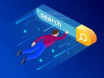 Концепция равновеликого бара поиска современная Элементы аналитика оптимизирования и сети поисковой системы Элемент интерфейса ве Стоковые Изображения