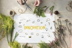 Концепция развития искусств воображения Bule идей творения светлая Стоковое Изображение