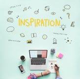 Концепция развития искусств воображения Bule идей творения светлая Стоковые Изображения