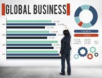 Концепция развития роста глобального бизнеса корпоративная Стоковое Фото