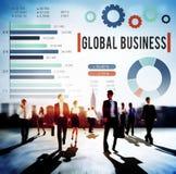 Концепция развития роста глобального бизнеса корпоративная Стоковые Фото
