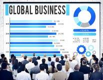 Концепция развития роста глобального бизнеса корпоративная Стоковое Изображение RF