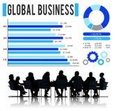 Концепция развития роста глобального бизнеса корпоративная Стоковое Изображение