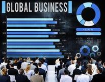 Концепция развития роста глобального бизнеса корпоративная Стоковые Изображения