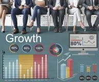 Концепция развития увеличения улучшения роста Стоковые Изображения RF