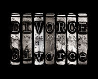 Концепция развода Стоковое Изображение RF