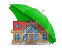 Концепция размещещния защищенного и застрахованного дома Стоковое Изображение