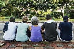 Концепция разминки пенсионера благополучия встречи вверх выбытая Стоковая Фотография RF