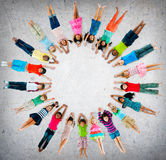 Концепция разнообразия детства детей детей жизнерадостная Стоковая Фотография RF