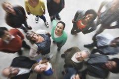 Концепция разнообразия команды группы людей усмехаясь стоковая фотография rf