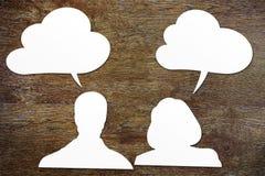 Концепция различных человека и женщины intellection Стоковая Фотография RF