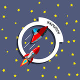 Концепция ракеты нововведения Стоковое Изображение