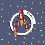 Концепция ракеты преимущества Стоковые Изображения RF