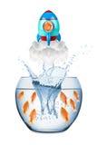 Концепция ракеты рыб стоковое изображение rf